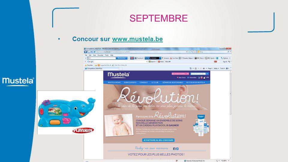 SEPTEMBRE Concour sur www.mustela.be