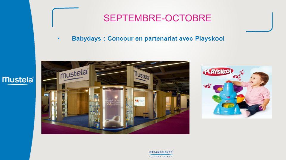 SEPTEMBRE-OCTOBRE Babydays : Concour en partenariat avec Playskool