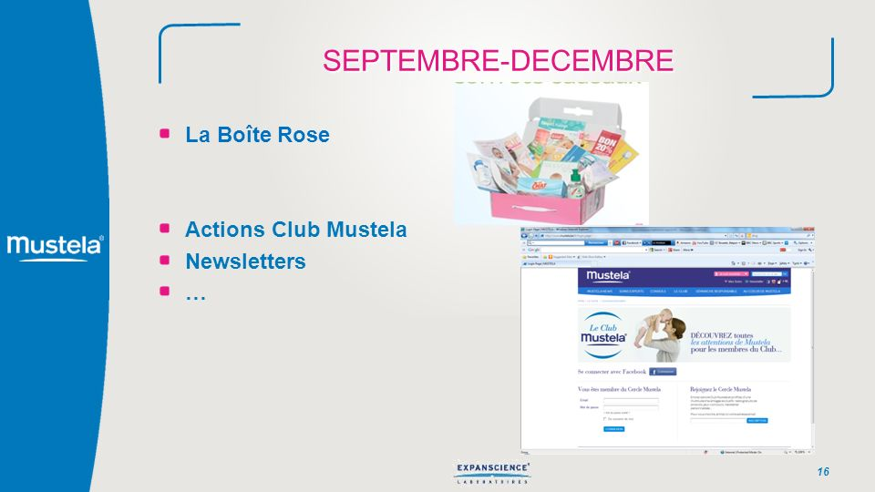SEPTEMBRE-DECEMBRE La Boîte Rose Actions Club Mustela Newsletters …