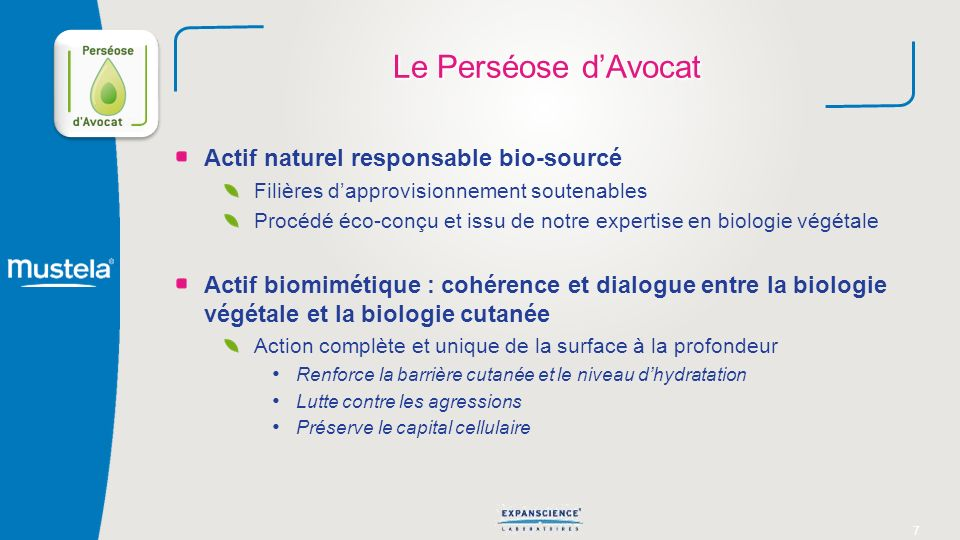 Le Perséose d'Avocat Actif naturel responsable bio-sourcé