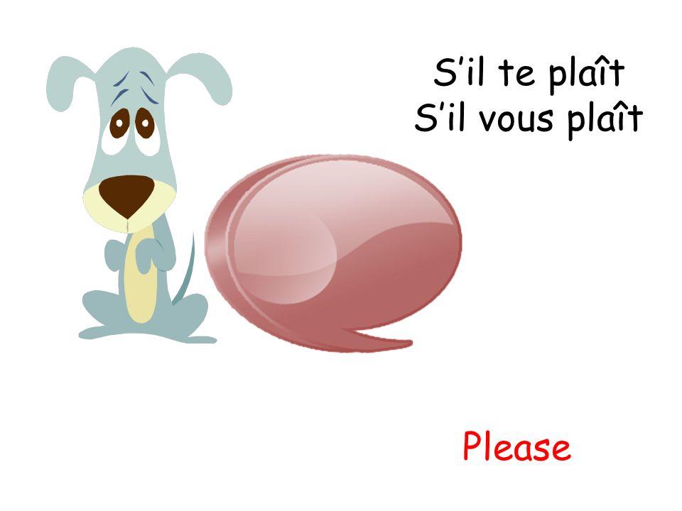 S'il te plaît S'il vous plaît Please
