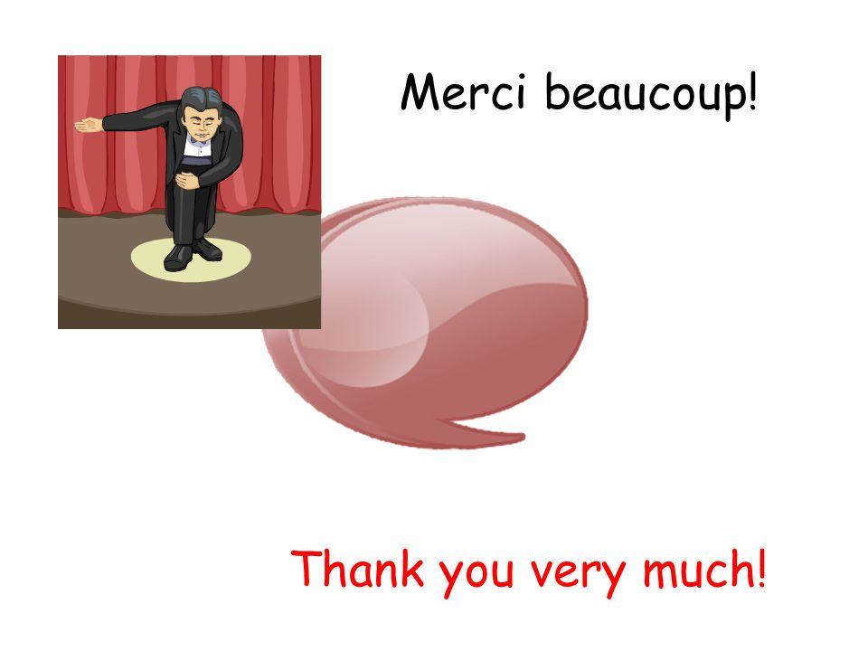 Merci beaucoup! Thank you very much!