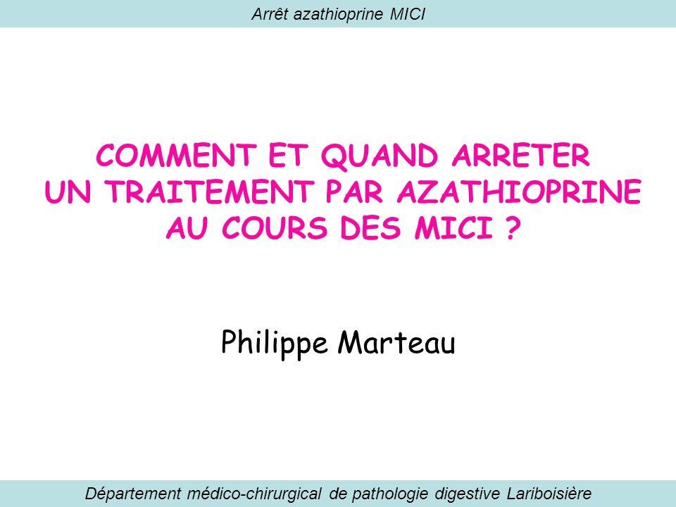 Arrêt azathioprine MICI