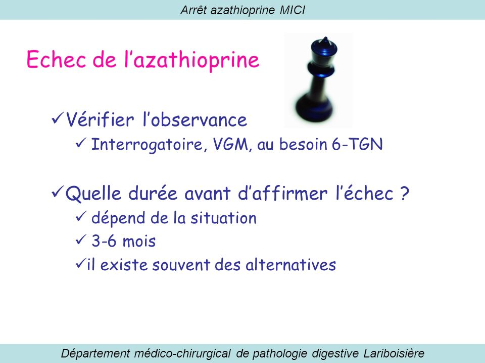 Echec de l'azathioprine
