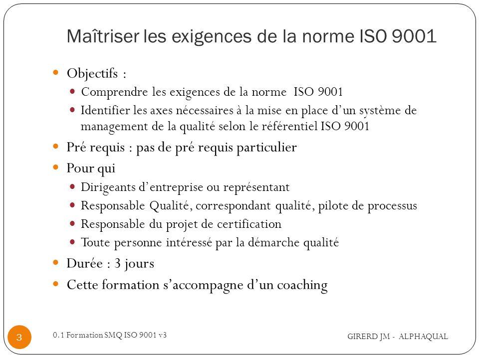 Maîtriser les exigences de la norme ISO 9001