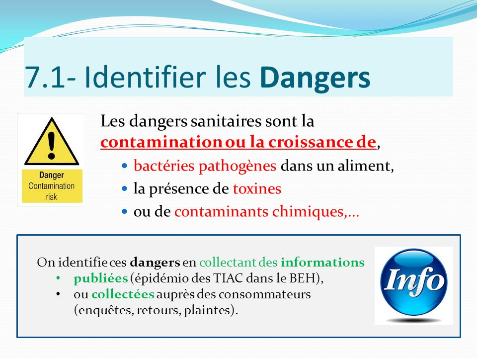 7.1- Identifier les Dangers