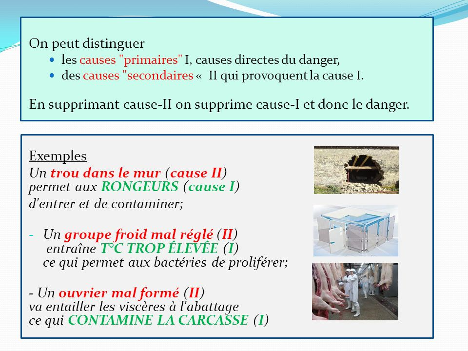 En supprimant cause-II on supprime cause-I et donc le danger.