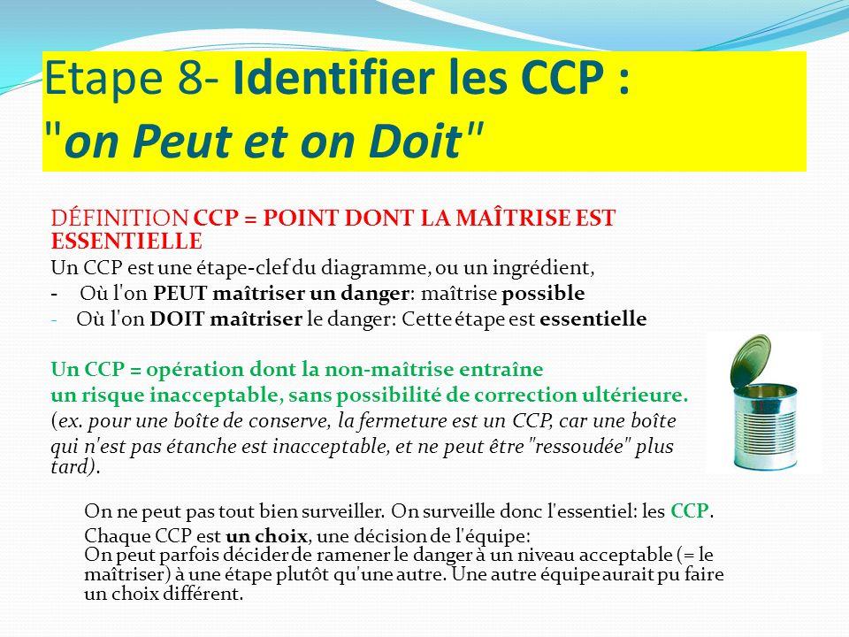 Etape 8- Identifier les CCP : on Peut et on Doit