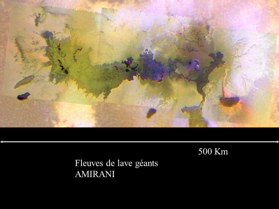 500 Km Fleuves de lave géants AMIRANI