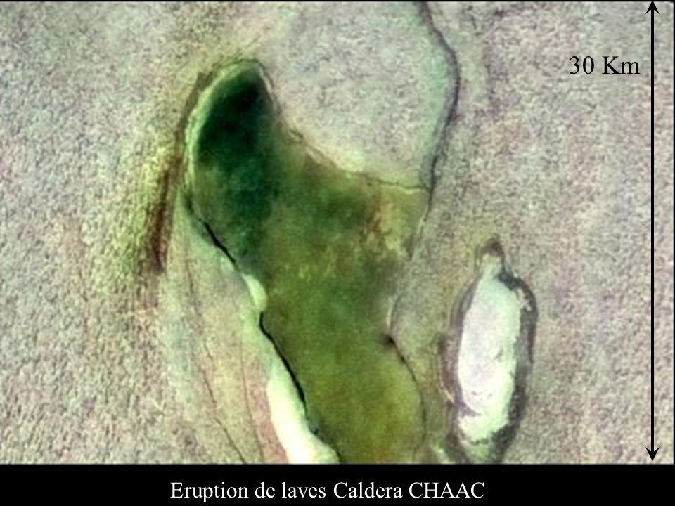 30 Km Eruption de laves Caldera CHAAC