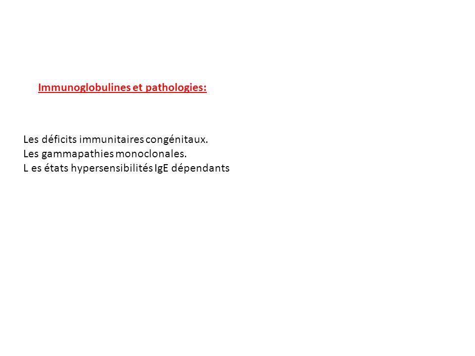 Immunoglobulines et pathologies: