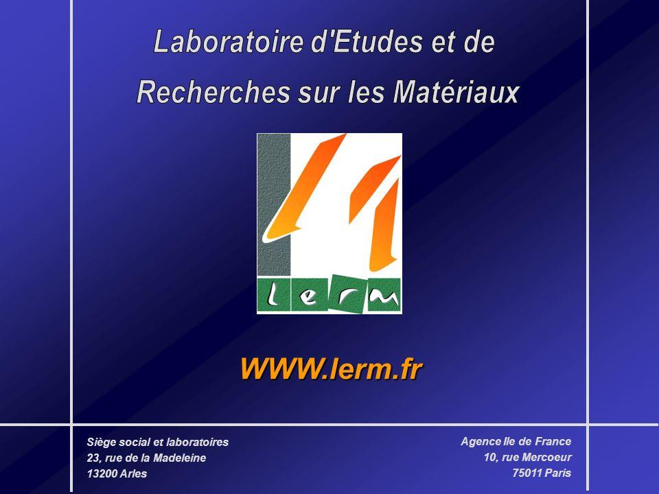 Laboratoire d Etudes et de Recherches sur les Matériaux