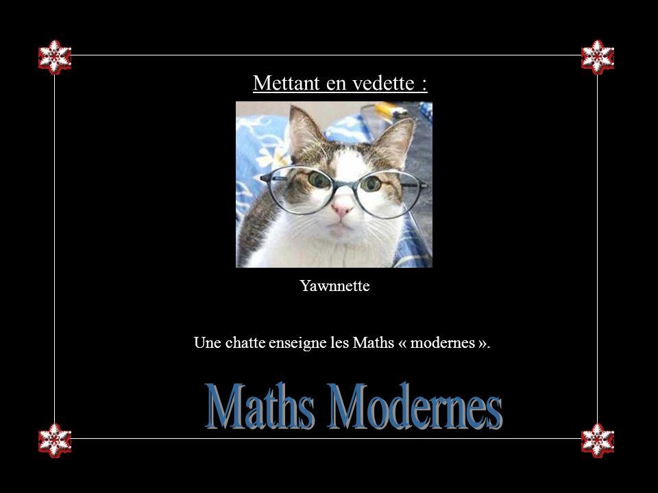 Une chatte enseigne les Maths « modernes ».