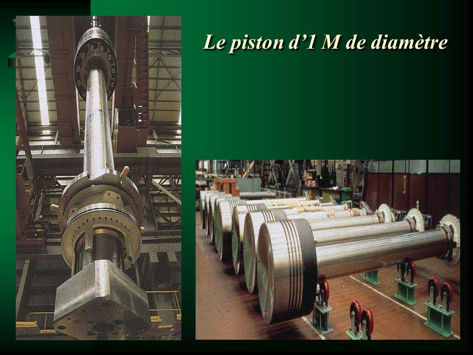 Le piston d'1 M de diamètre