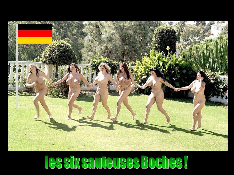 les six sauteuses Boches !