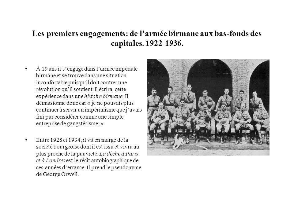 Les premiers engagements: de l'armée birmane aux bas-fonds des capitales. 1922-1936.