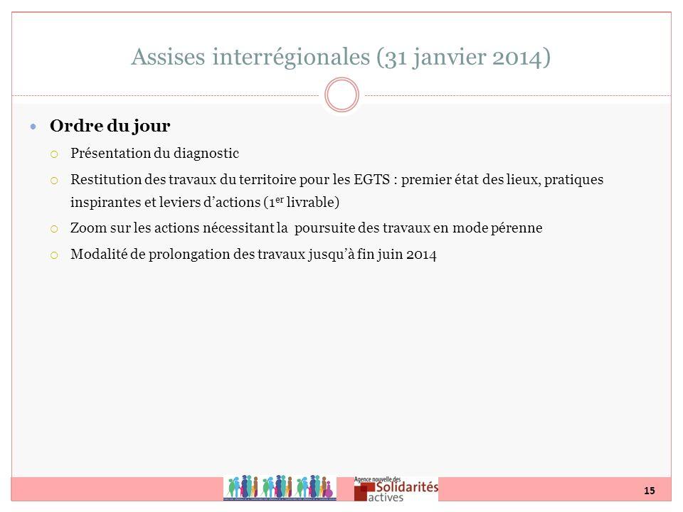 Assises interrégionales (31 janvier 2014)