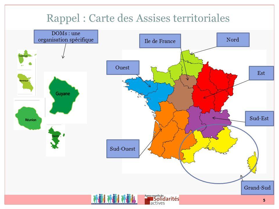 Rappel : Carte des Assises territoriales