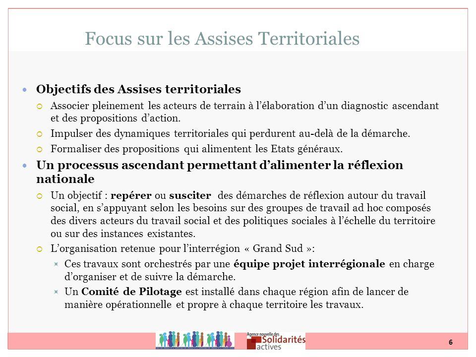 Focus sur les Assises Territoriales