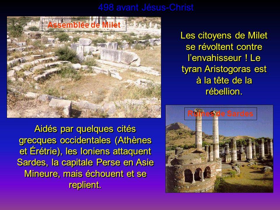 498 avant Jésus-Christ Assemblée de Milet.