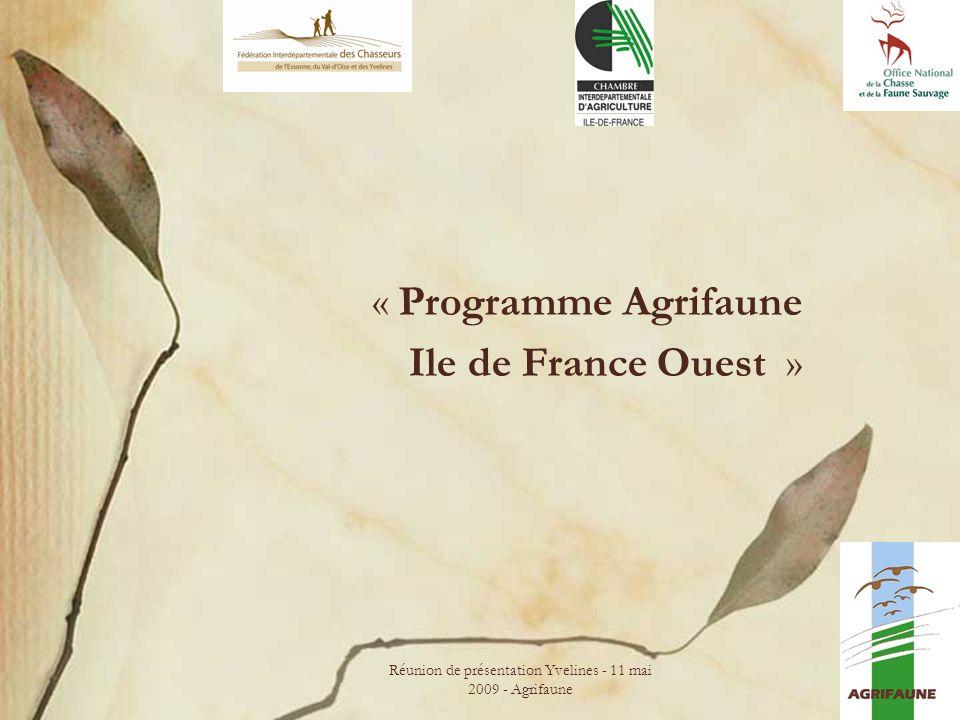 « Programme Agrifaune Ile de France Ouest »