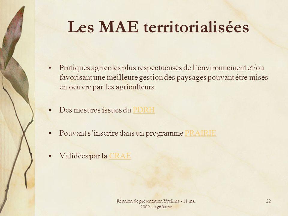 Les MAE territorialisées