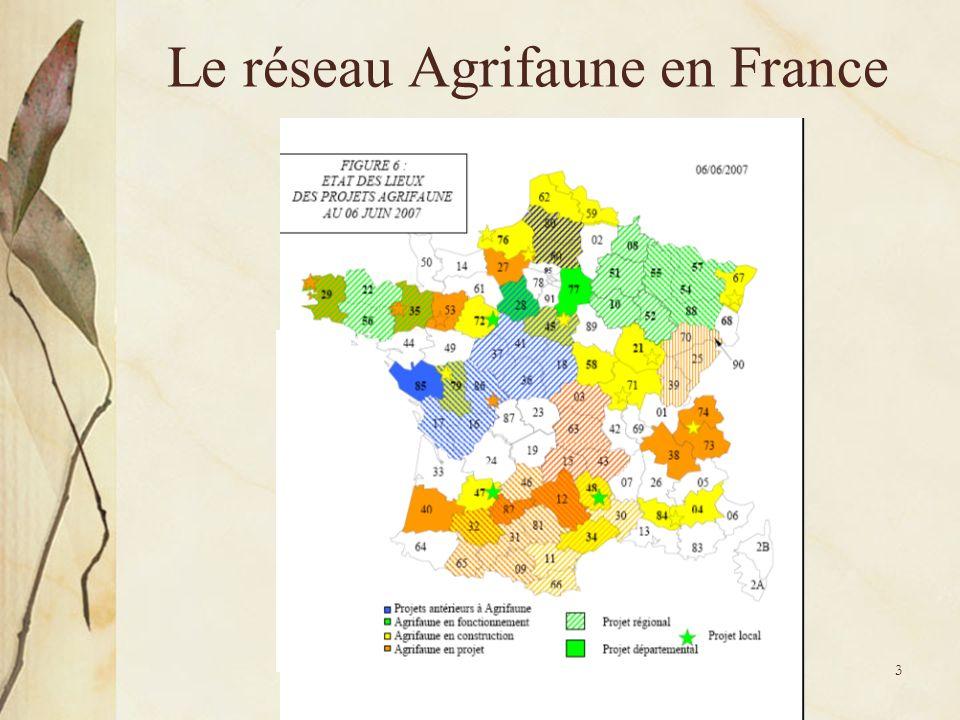 Le réseau Agrifaune en France