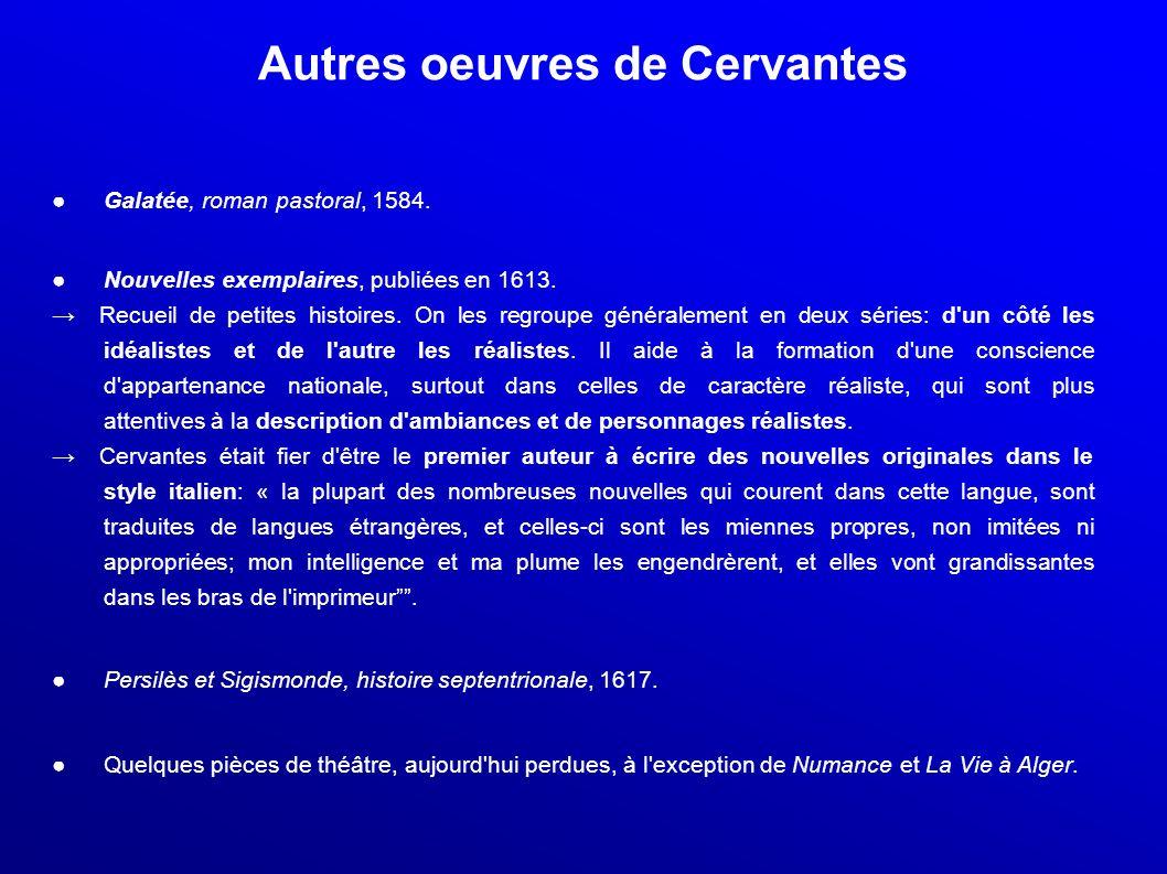 Autres oeuvres de Cervantes