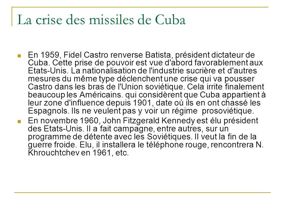 La crise des missiles de Cuba