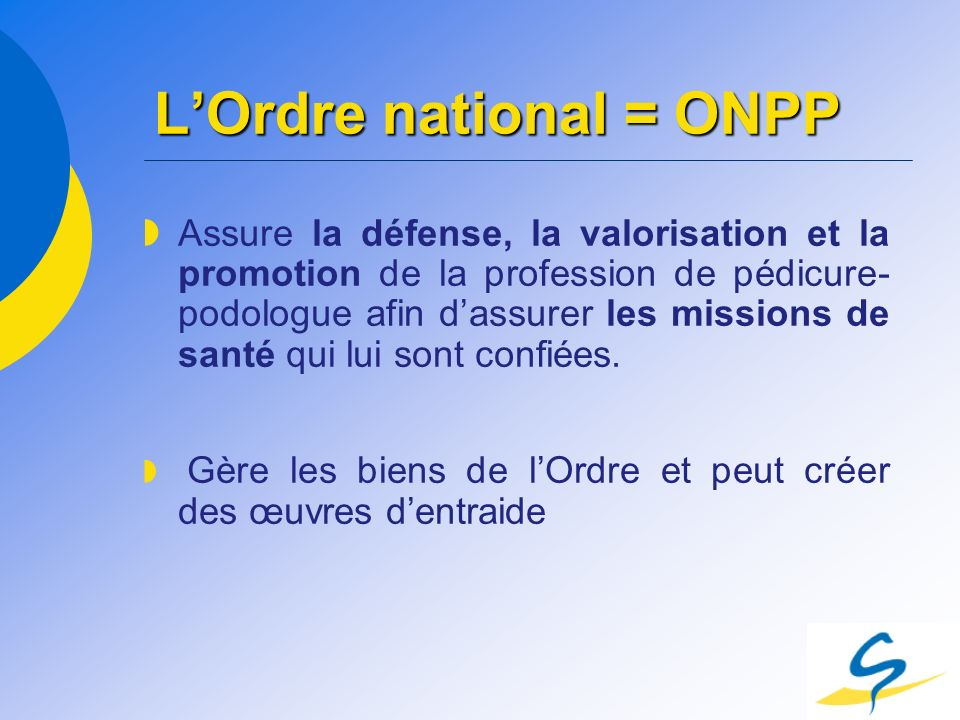 L'Ordre national = ONPP
