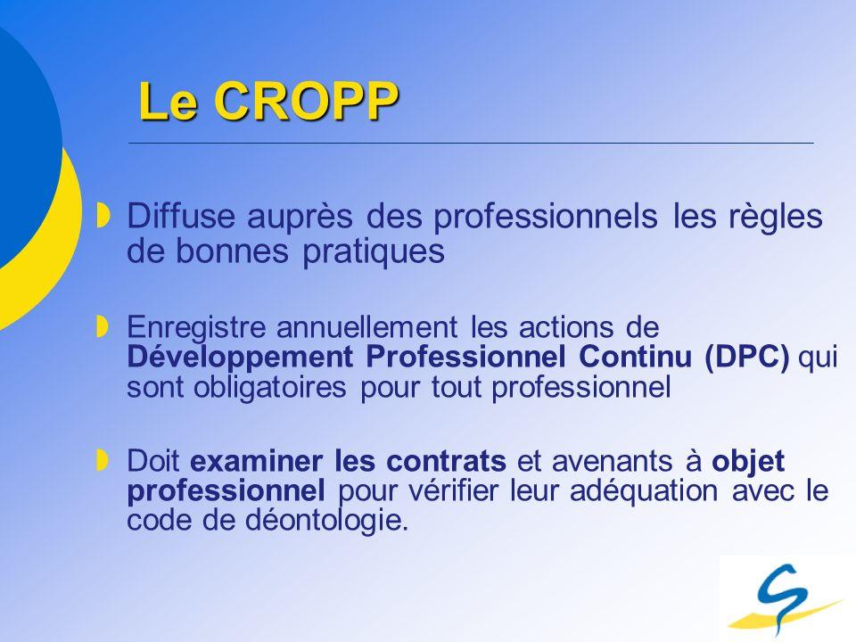 Le CROPP Diffuse auprès des professionnels les règles de bonnes pratiques.