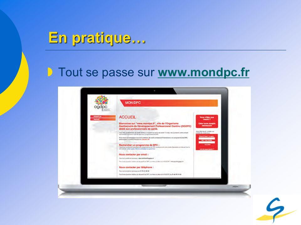 En pratique… Tout se passe sur www.mondpc.fr