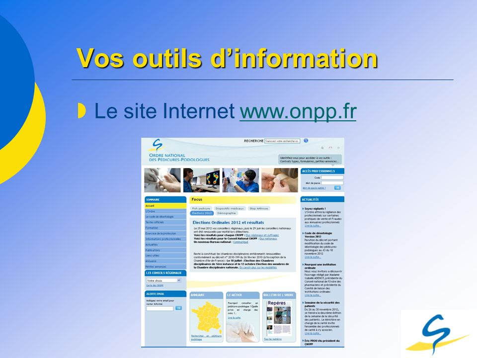 Vos outils d'information