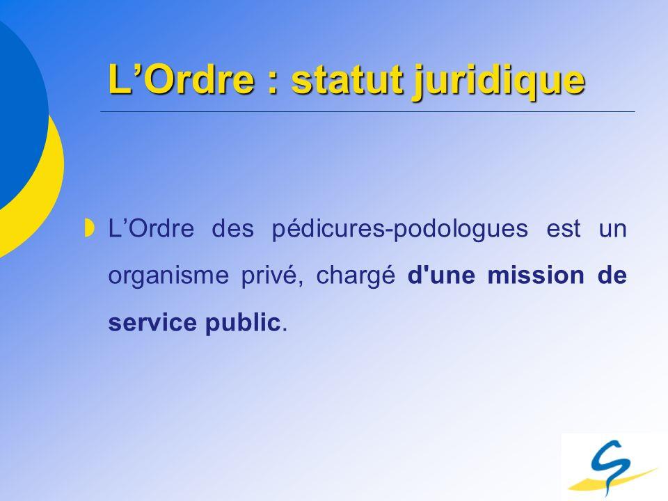 L'Ordre : statut juridique