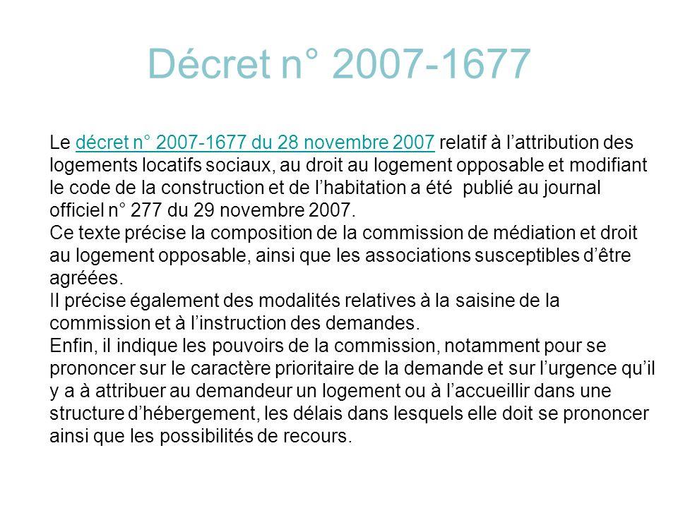 Décret n° 2007-1677