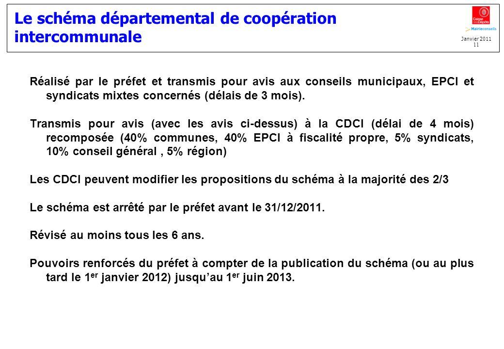 Le schéma départemental de coopération intercommunale
