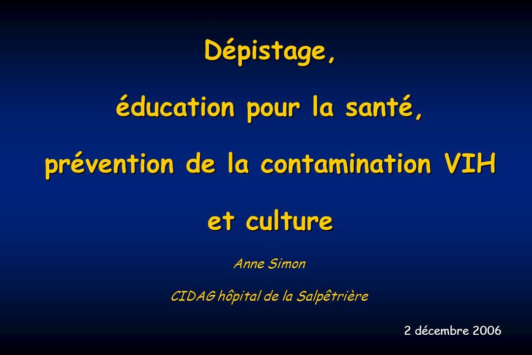 éducation pour la santé, prévention de la contamination VIH