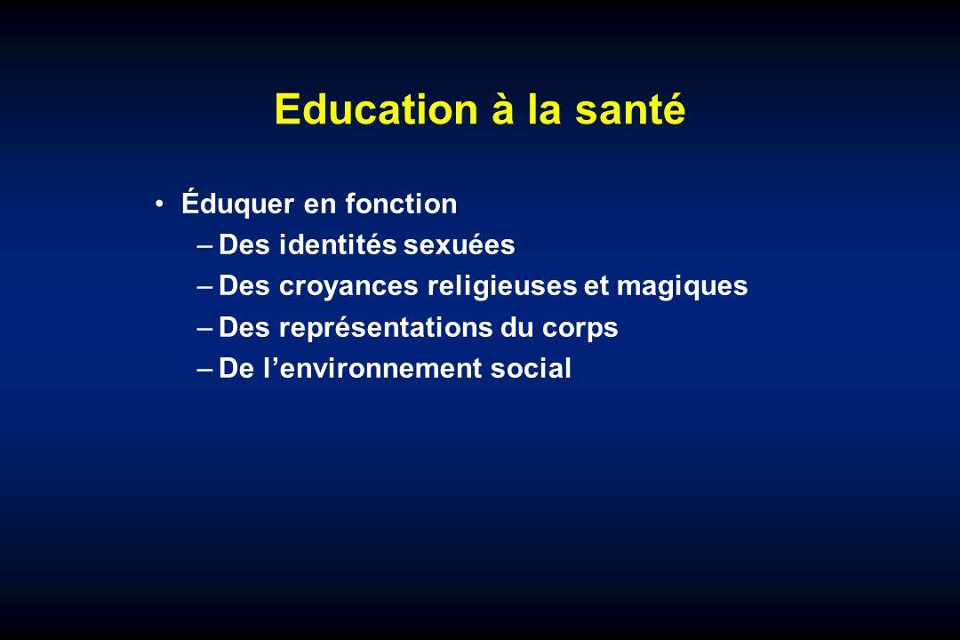 Education à la santé Éduquer en fonction Des identités sexuées