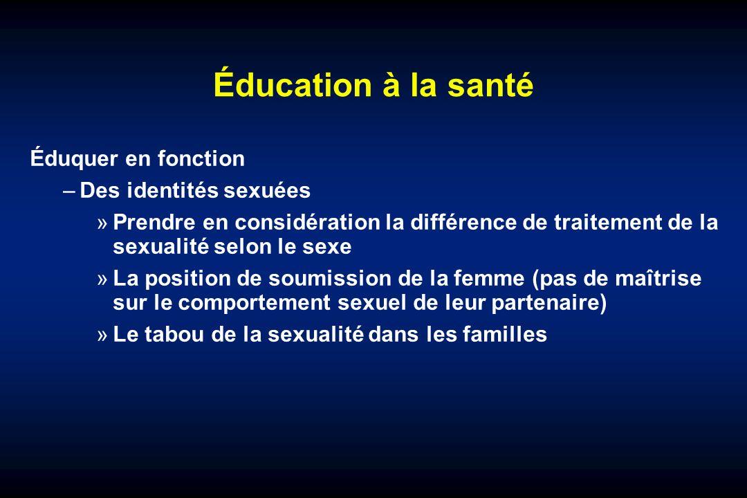 Éducation à la santé Éduquer en fonction Des identités sexuées