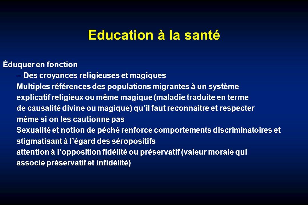 Education à la santé Éduquer en fonction