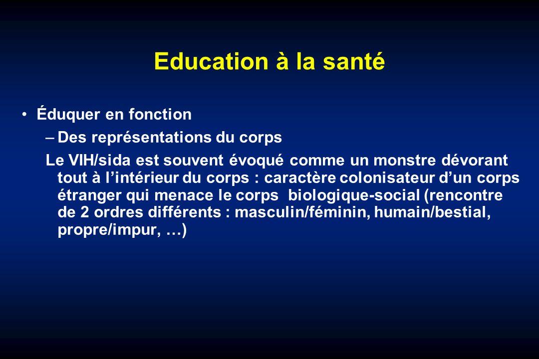 Education à la santé Éduquer en fonction Des représentations du corps