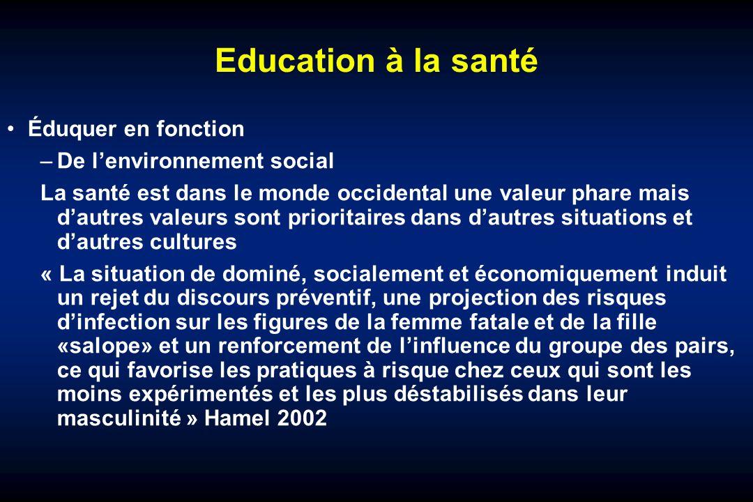 Education à la santé Éduquer en fonction De l'environnement social