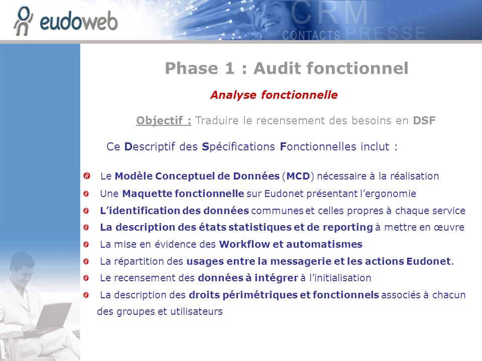 Phase 1 : Audit fonctionnel Analyse fonctionnelle