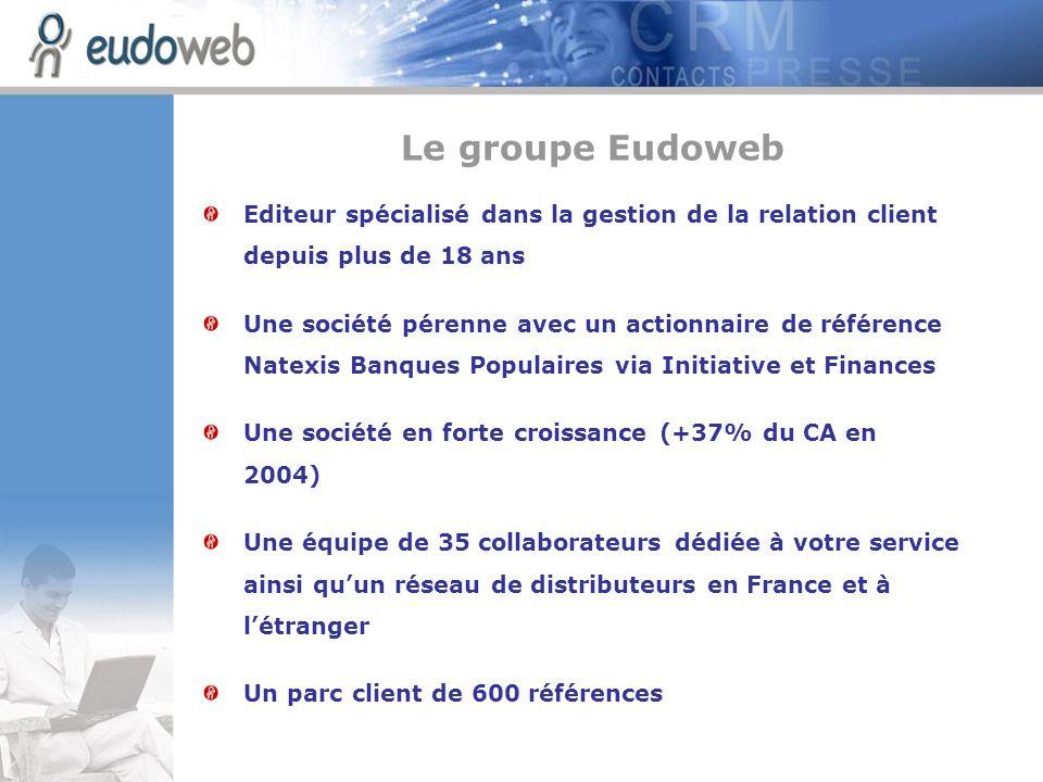 Le groupe EudowebEditeur spécialisé dans la gestion de la relation client depuis plus de 18 ans.