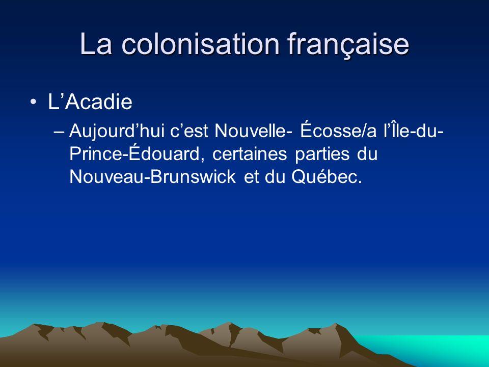 La colonisation française