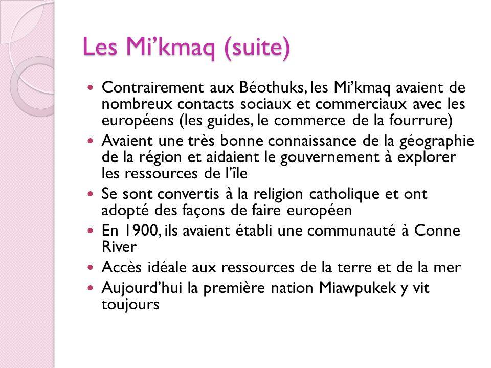 Les Mi'kmaq (suite)