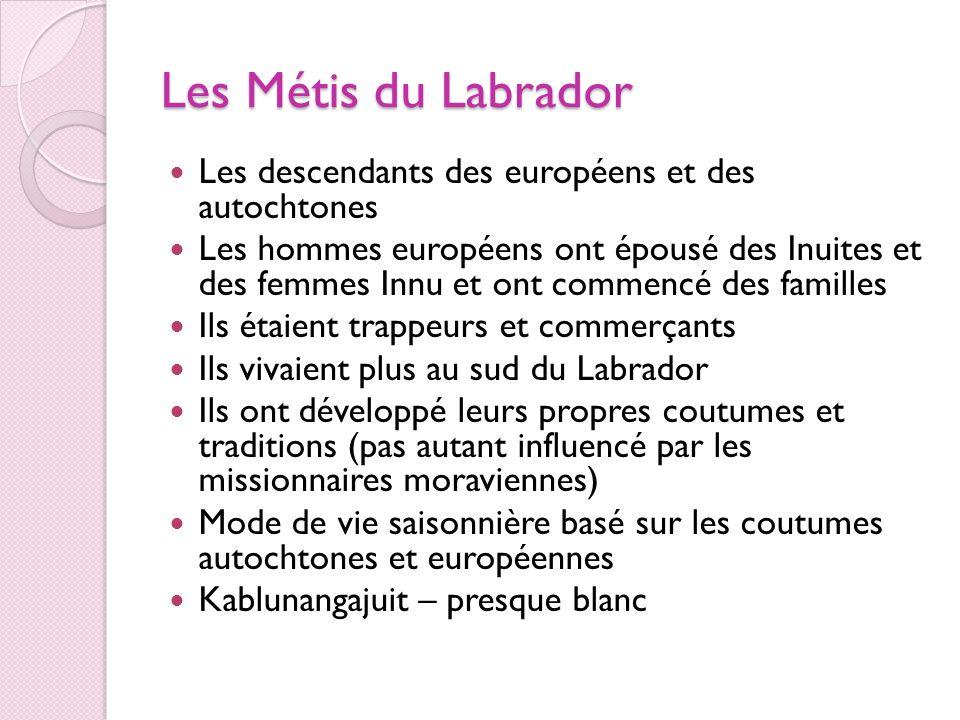 Les Métis du Labrador Les descendants des européens et des autochtones