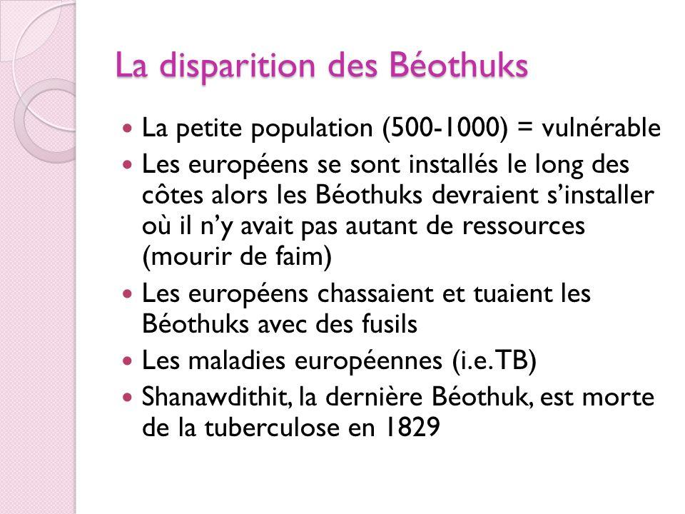 La disparition des Béothuks