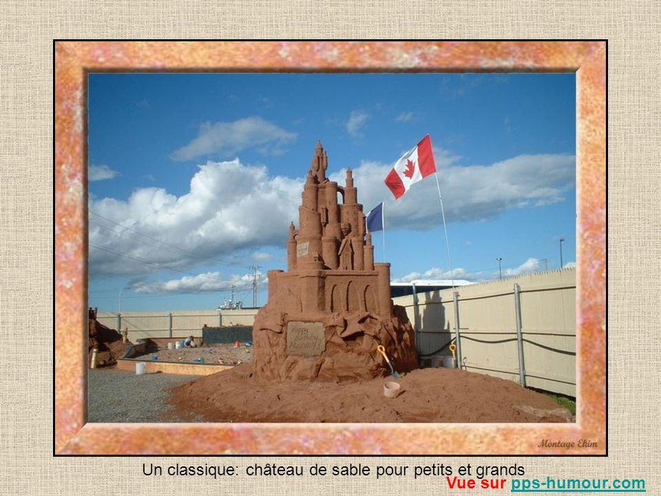 Un classique: château de sable pour petits et grands