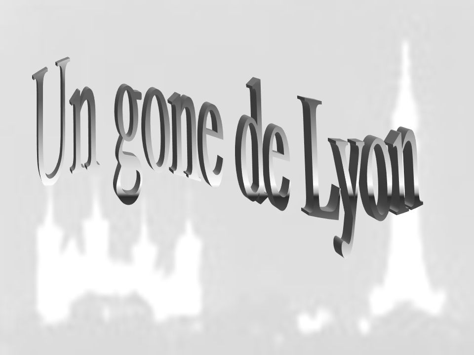Un gone de Lyon